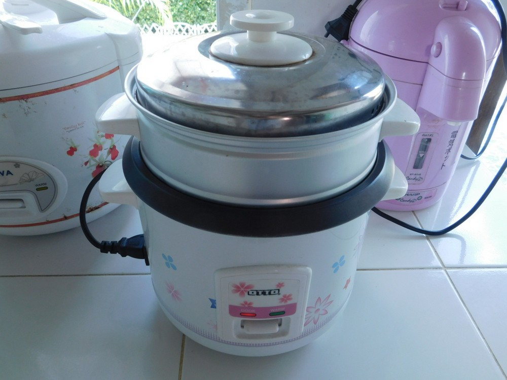 Steamed Eggs Rice Cooker Thailand 1 Dollar Meals